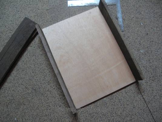 Pallet wood and fabric tray diy-002