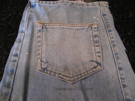 Recycled Blue Jeans Apron, paint smock