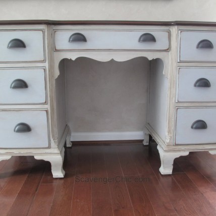 Vintage Writing Desk, Chalk Paint makeover-007