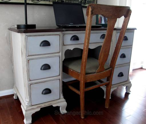 Vintage Writing Desk, Chalk Paint makeover