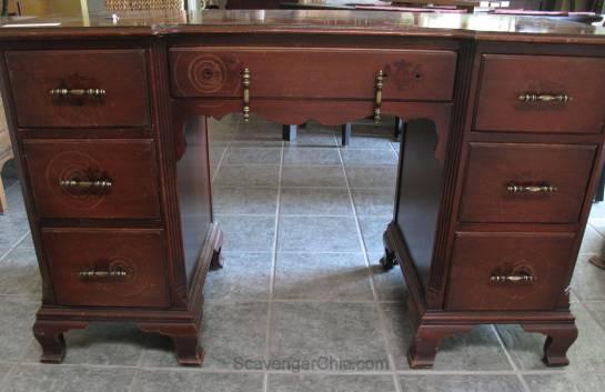 Vintage Writing Desk, Chalk Paint makeover