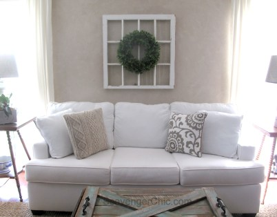 DIY Boxwood Wreath and Vintage Window-006