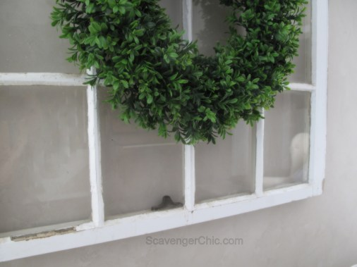 DIY Boxwood Wreath and Vintage Window-007