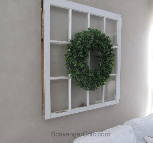 DIY Boxwood Wreath and Vintage Window-008
