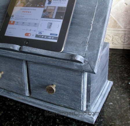 Painted ipod, recipe book, holder and file box