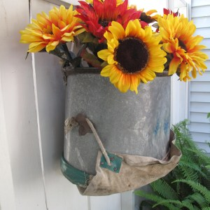 Upcycled Apple Picking Bucket