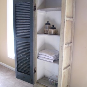 Vintage Shutter Cabinet