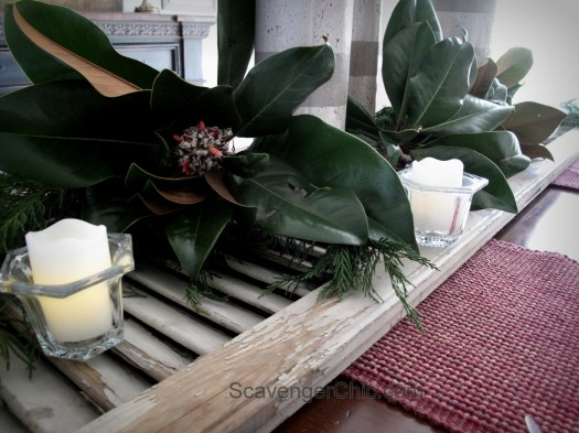 Upcycled Shutter- Holiday Buffet or Centerpiece