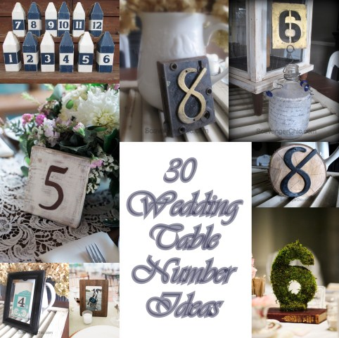 30 Wedding Table Number Ideas for all styles of Weddings