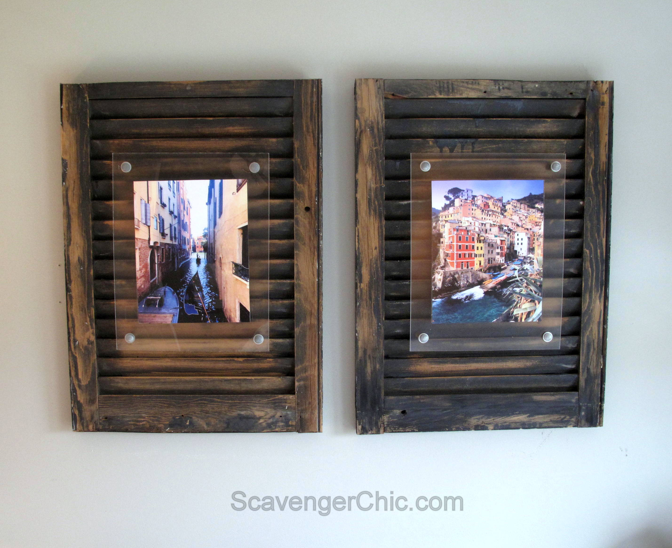 Upcycled projects by category lighting and shutters scavenger chic jeuxipadfo Image collections