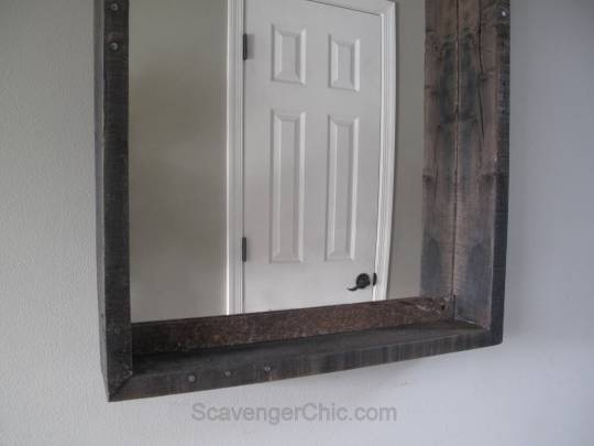 Pallet Wood Mirror Makeover