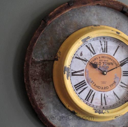 Recycled, Upcycled Barrel Ring Wall Clock diy