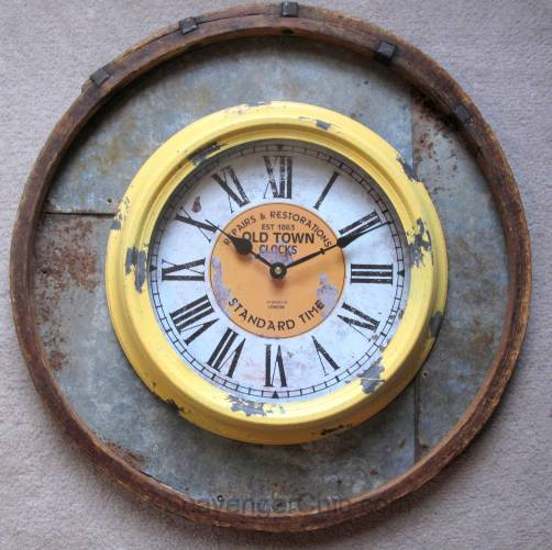 Recycled, Upcycled Barrel Ring Wall Clock diy