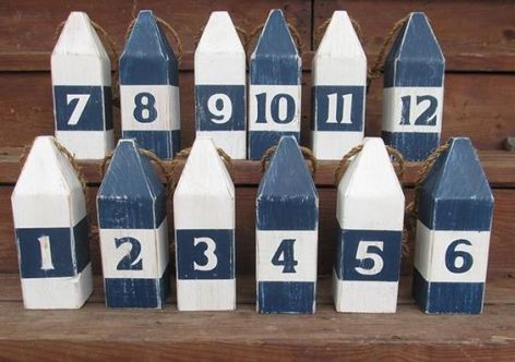 Water side Wedding Buoy Table Numbers
