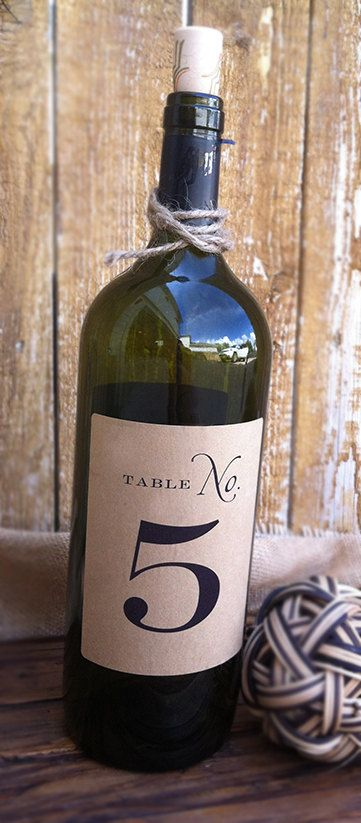Wine Label Table Number