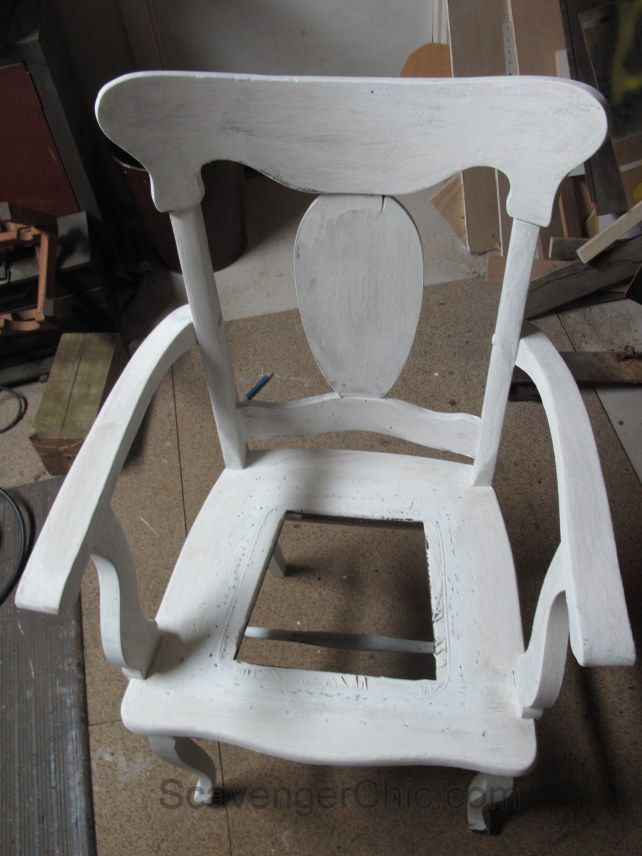 Replacing a cane seat with a padded seat cover
