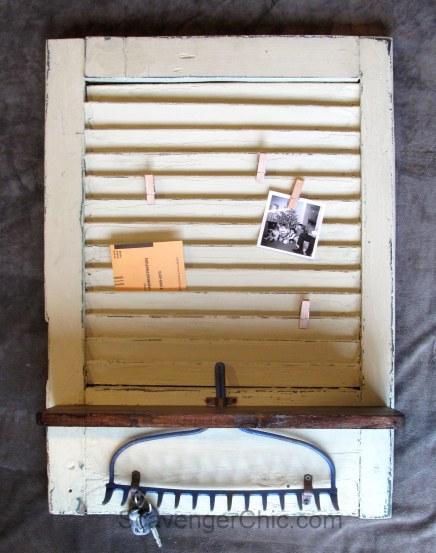 Vintage Shutter Memo Board