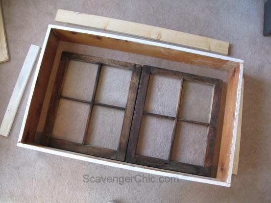 DIY Vintage Window Wall Cabinet