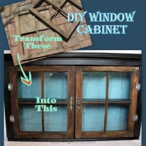 DIY Vintage Windows Wall Cabinet