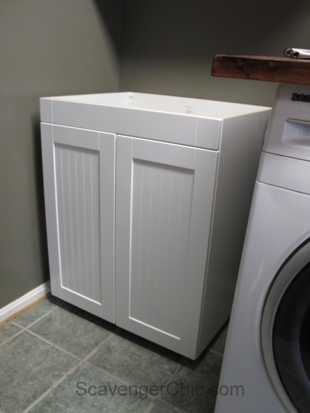 Laundry Room Update, installing a new laundry tub