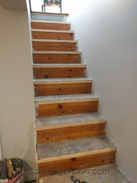 New treads for old stairs, remodel reface and refinish old stairs-012