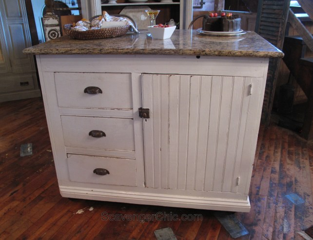 Recycled Vintage Farmhouse cabinet kitchen island