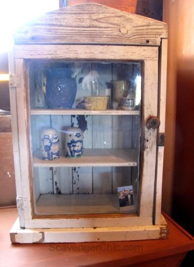 Vintage Beadboard small wood cabinet