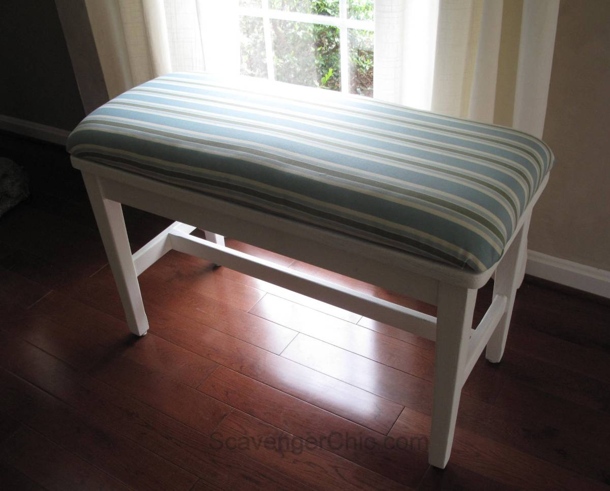 Easy No Sew Padded Seat Cover Scavenger Chic