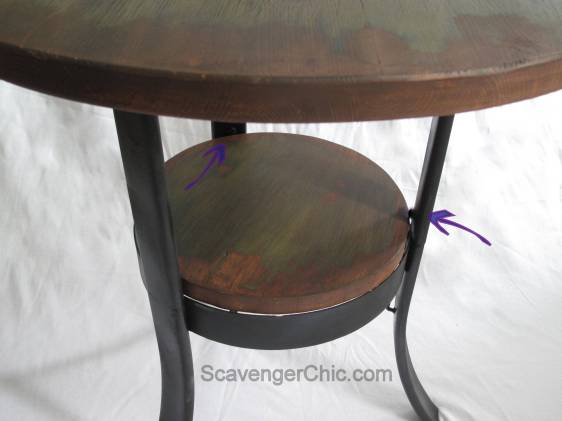 Upcycled , Recycled Turkey Fryer side table
