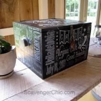 Chalkboard Style Wedding Card Box DIY