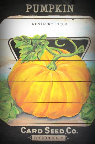 Card Seed Co. Pumpkin Seed Packet Vintage Style Sign DIY-