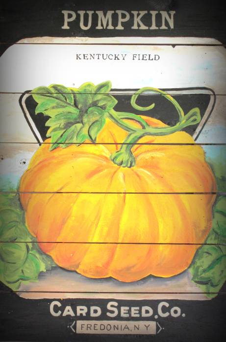 Card Seed Co. Pumpkin Seed Packet Vintage Style Sign DIY-