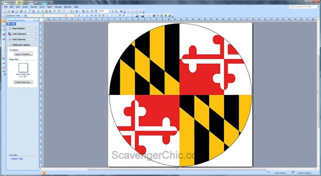 Maryland Flag Pallet Wood Side Table.bmp