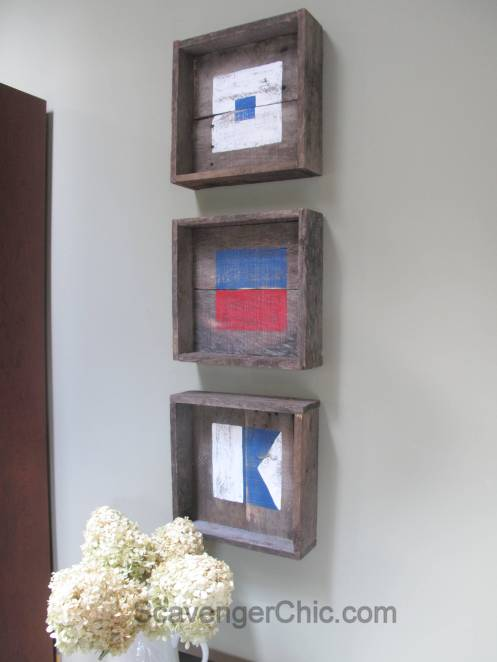 Pallet wood Nautical Flags, signal flags wall decor