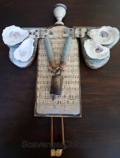 Music Junk Angel with Oyster Shells