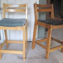 Thrift Store Bar Stool Makeover