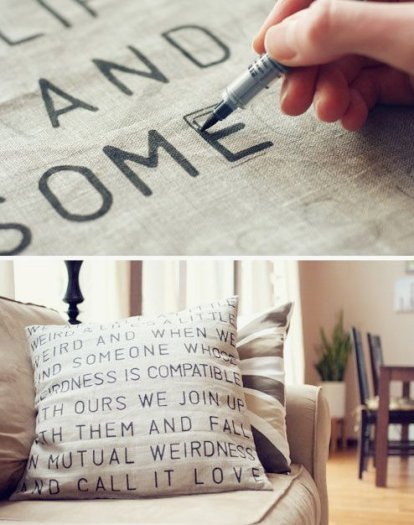 DIY and Homemade Gifts - Favorite Saying or Phrase Pillow