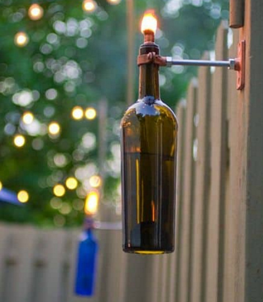 DIY and Homemade Gifts - Wine Bottle Tiki torch.bmp