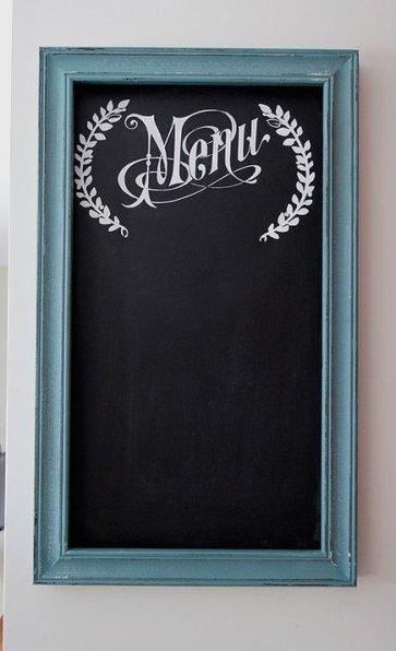 Homemade and DIY Gifts- Chalk Menu Board