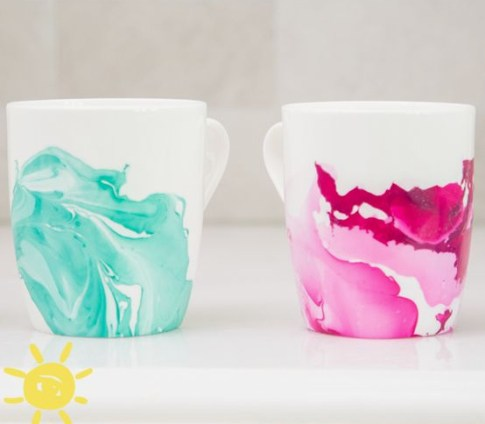 Homemade and DIY Gifts- Marble Mugs.bmp