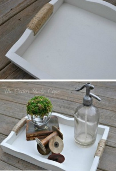 Homemade and DIY Gifts - Thrift Store Tray Makeover.bmp