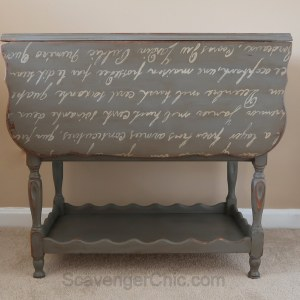 Bar Cart with French lettering
