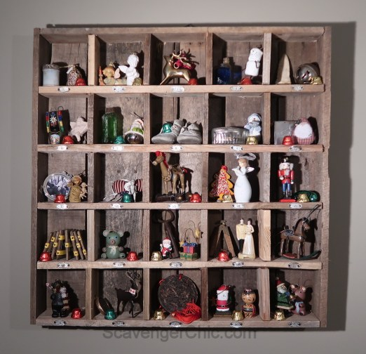 Recycled Soda Can and Pallet Wood Advent Calendar
