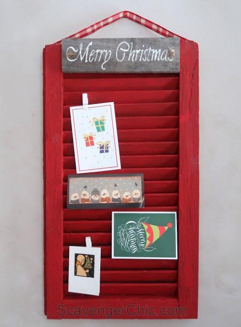 Vintage Shutter Christmas Card Holder DIY