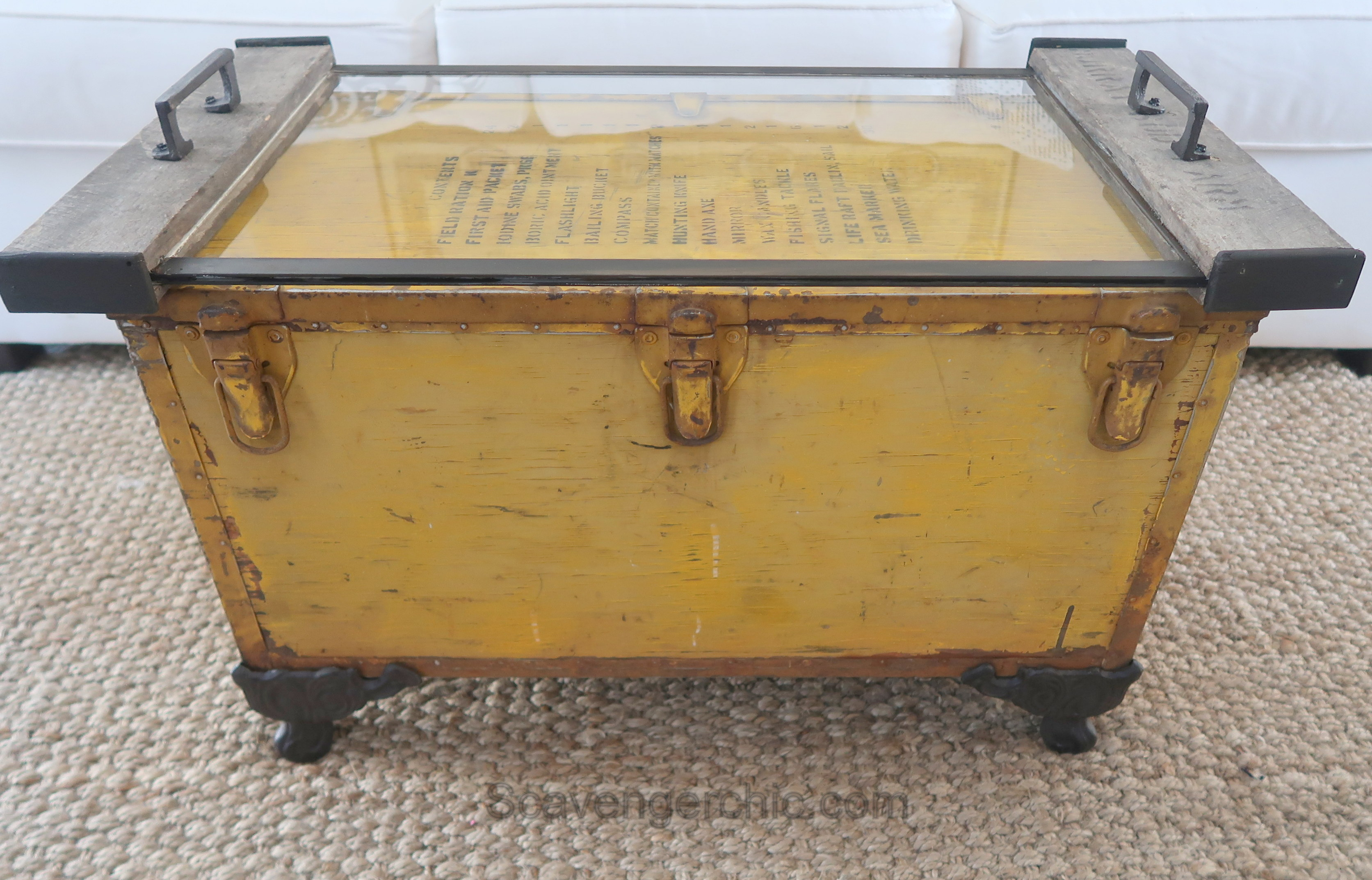 Flip Up Coffee Table Life Raft Supply Crate Coffee Table Flea Market Flip