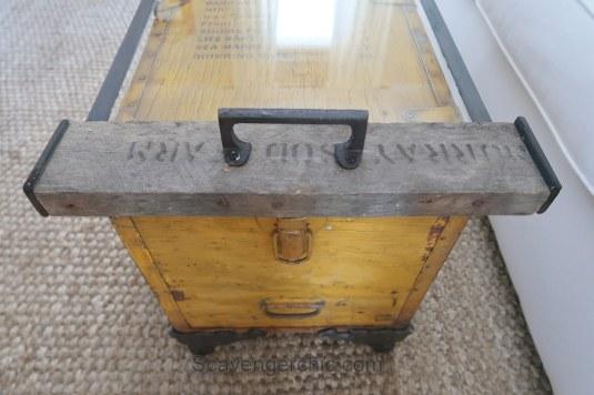 Life Raft Supply Crate Coffee Table - Flea Market Flip