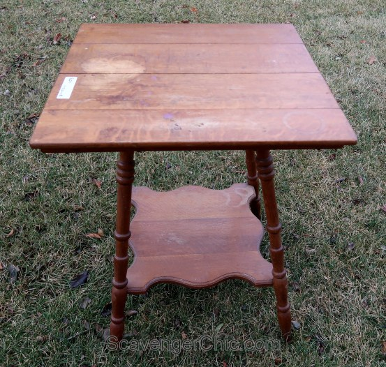 Thrift Store Finds-Oak side table