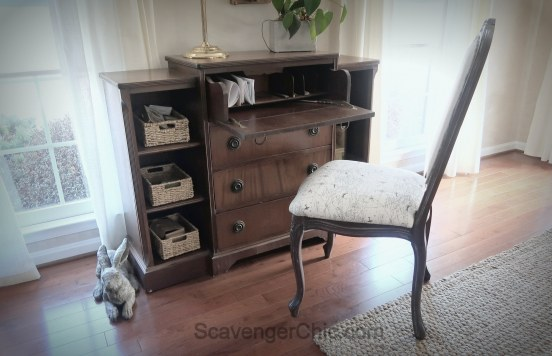 Upholstered French style chair makeover diy-017