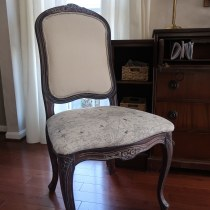 Upholstered French style chair makeover diy-020