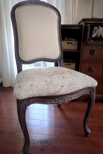 Upholstered French style chair makeover diy-021